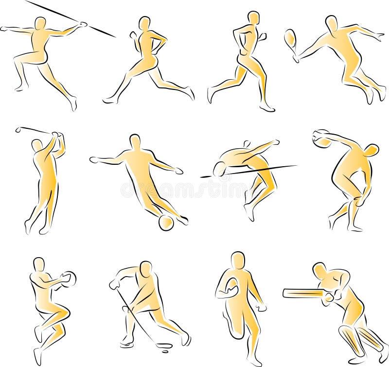 Coleção dos ícones dos esportes