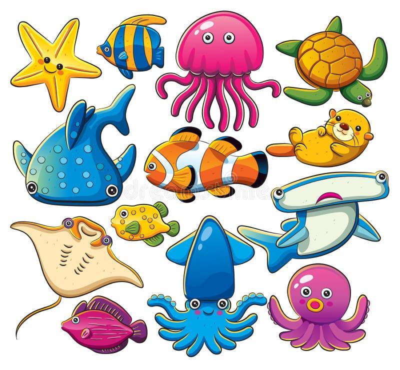 Coleção dos animais de mar