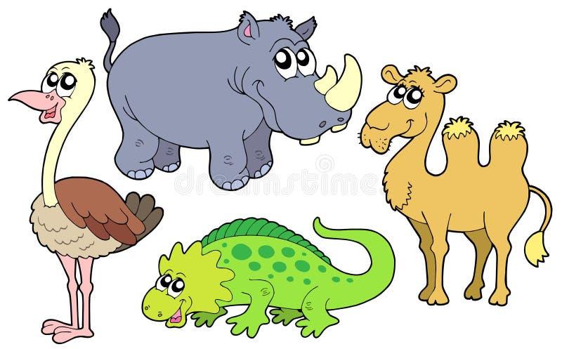 Coleção dos animais do jardim zoológico ilustração do vetor