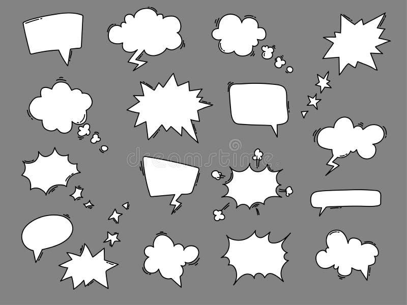 Coleção dos balões de discurso dos desenhos animados ilustração stock