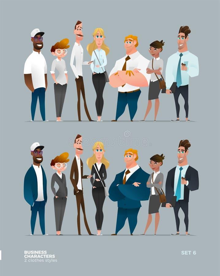 Coleção dos caráteres do negócio foto de stock royalty free