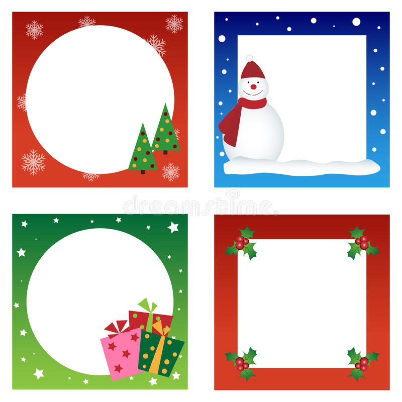 Coleção dos cartões de Natal ilustração royalty free