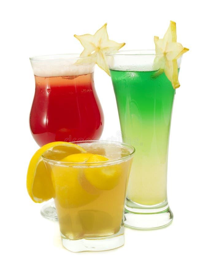 Coleção dos cocktail - cocktail de Starfruit, céu estrangeiro e side-car imagens de stock royalty free