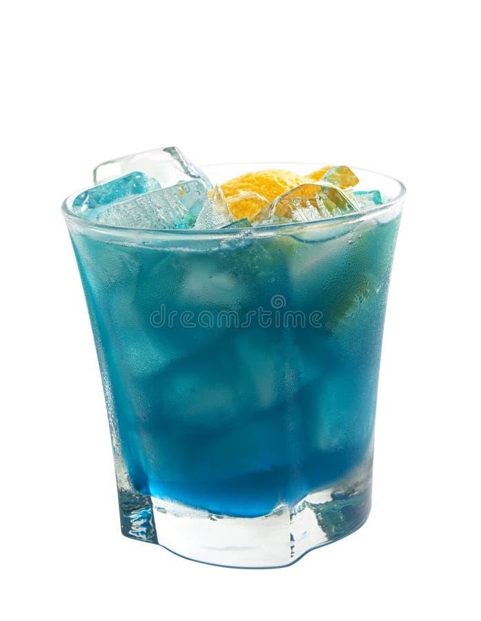 Coleção dos cocktail: Mar azul profundo imagens de stock royalty free