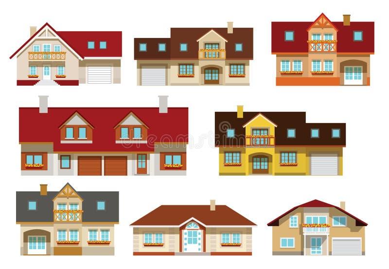 Coleção dos condomínios ilustração royalty free