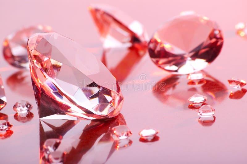 Coleção dos diamantes foto de stock royalty free
