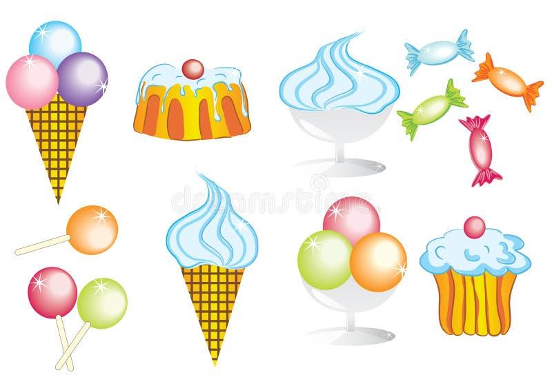 Coleção dos doces ilustração royalty free