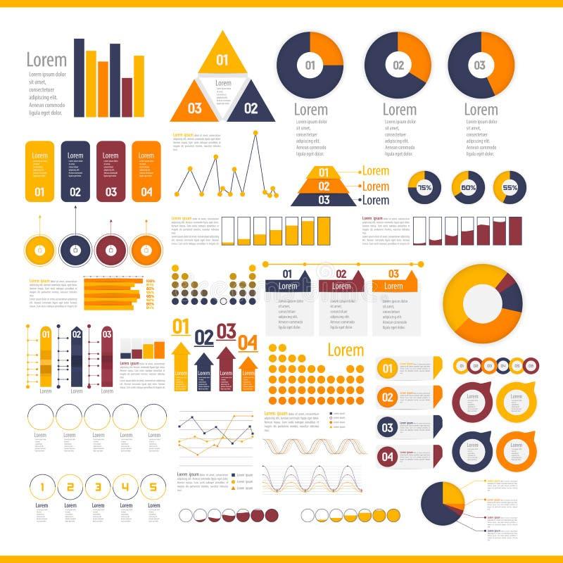 Coleção dos elementos de Infographic ilustração stock