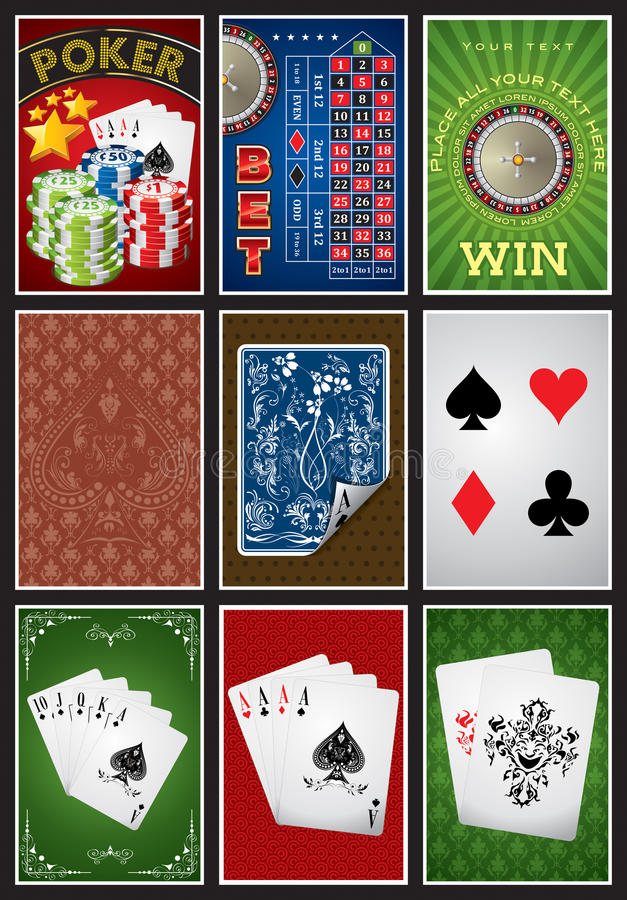 Coleção dos elementos do casino ilustração royalty free