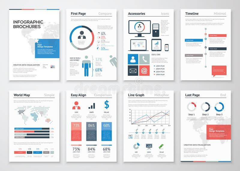 Coleção dos elementos do vetor do folheto de Infographic para o negócio ilustração do vetor