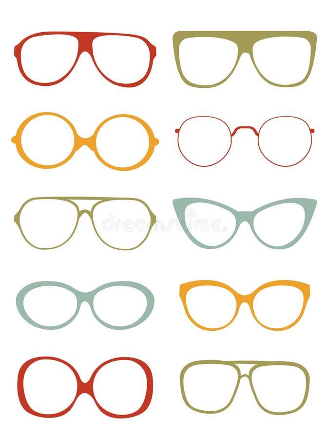 Coleção dos Eyeglasses ilustração do vetor