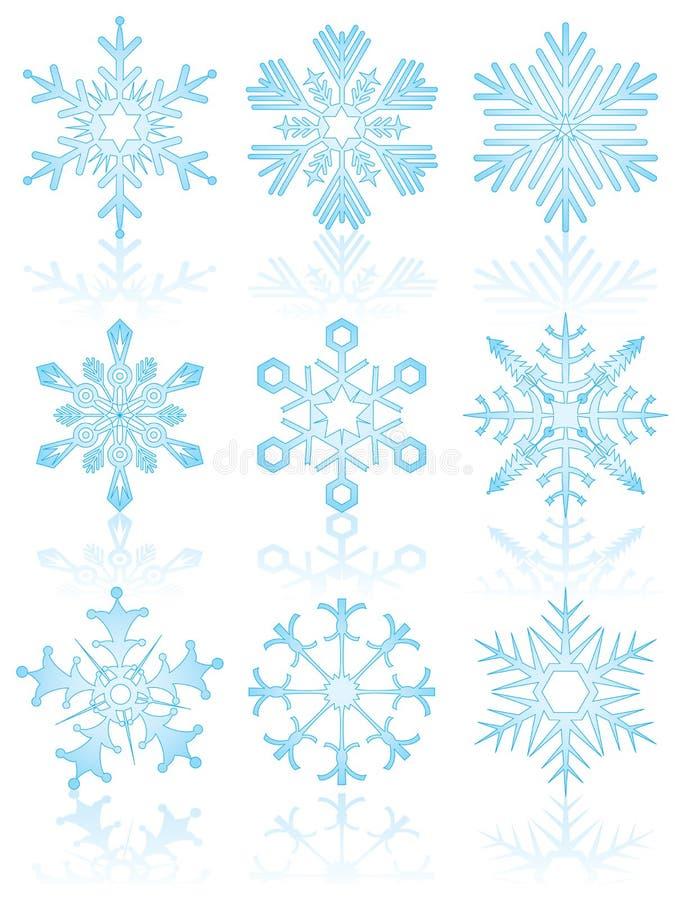 Coleção dos flocos de neve, vetor ilustração royalty free