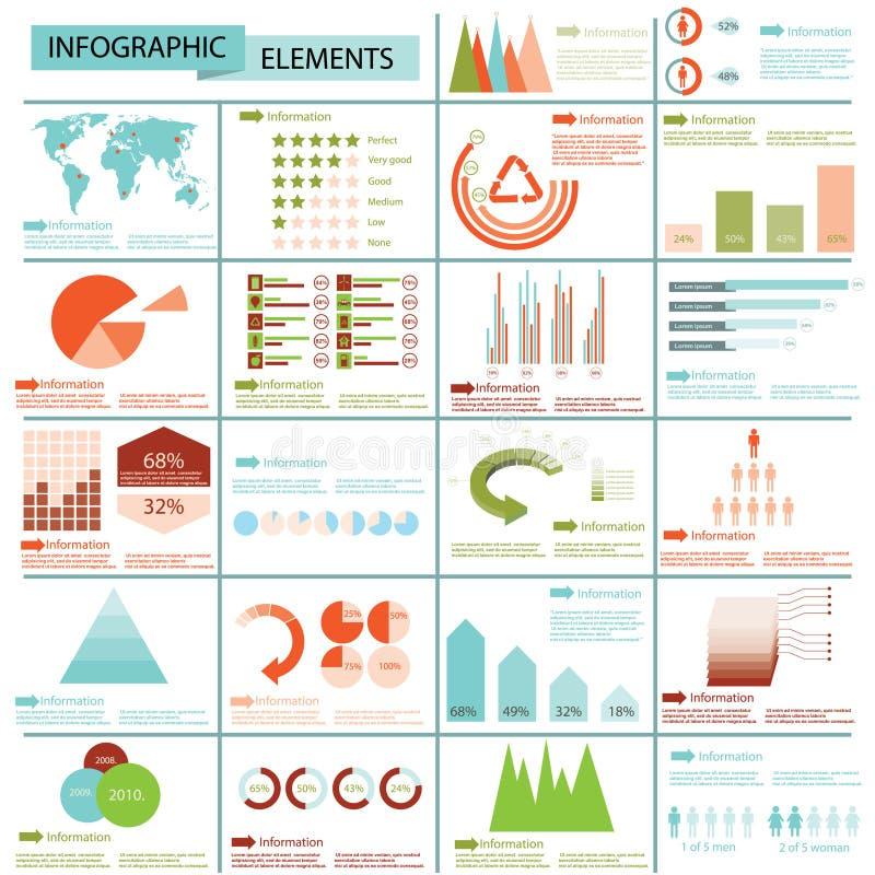 Coleção dos gráficos da informação ilustração do vetor