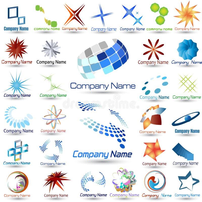 Coleção dos logotipos ilustração stock