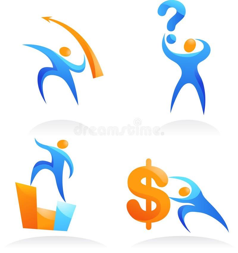Download Coleção Dos Logotipos Abstratos Dos Povos - 13 Ilustração do Vetor - Ilustração de ecology, creativo: 12805784