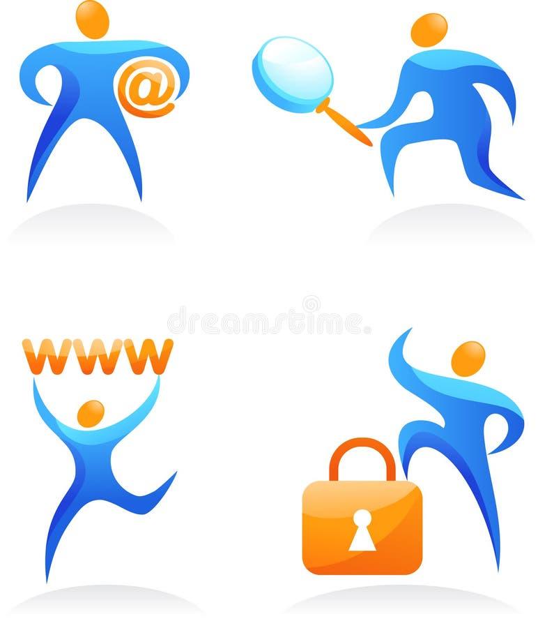Download Coleção Dos Logotipos Abstratos Dos Povos - 15 Ilustração do Vetor - Ilustração de figura, braços: 12805770