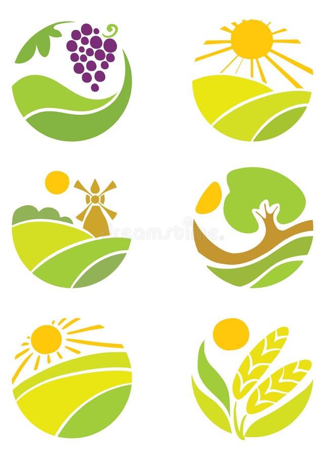 Coleção dos logotipos - agricultura