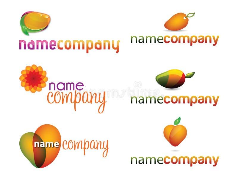 Coleção dos logotipos da manga fotos de stock