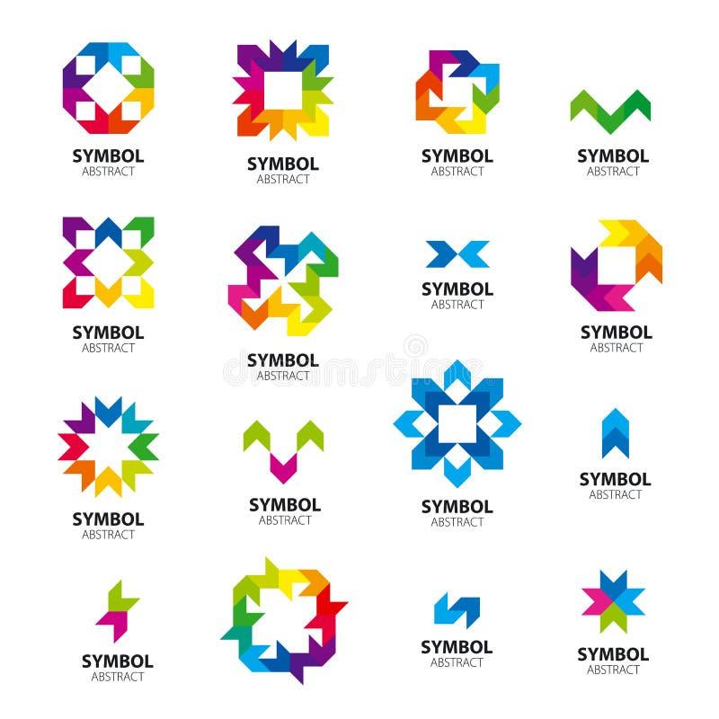 Coleção dos módulos abstratos dos logotipos do vetor ilustração do vetor