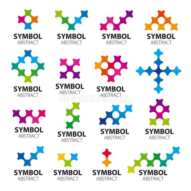 Coleção dos módulos dos logotipos do vetor ilustração stock