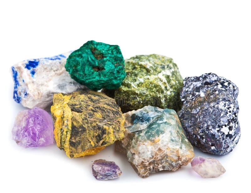 Coleção Dos Minerais Imagem de Stock