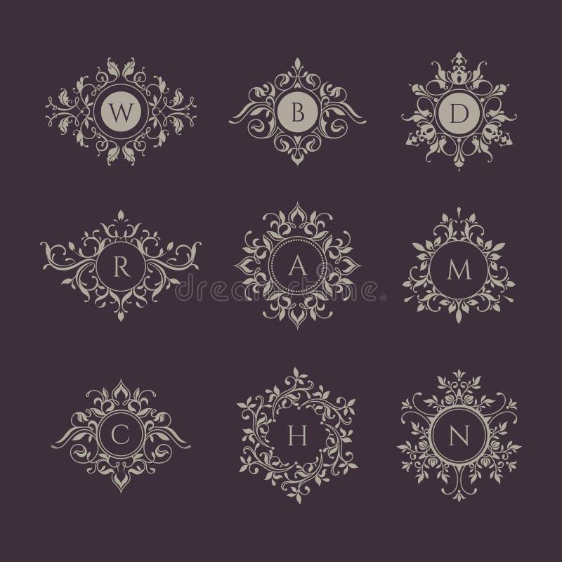 Coleção dos monogramas ilustração do vetor