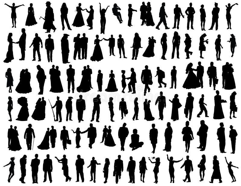 Coleção dos povos ilustração royalty free