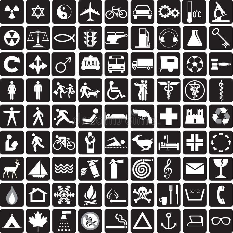 Coleção dos símbolos ilustração do vetor