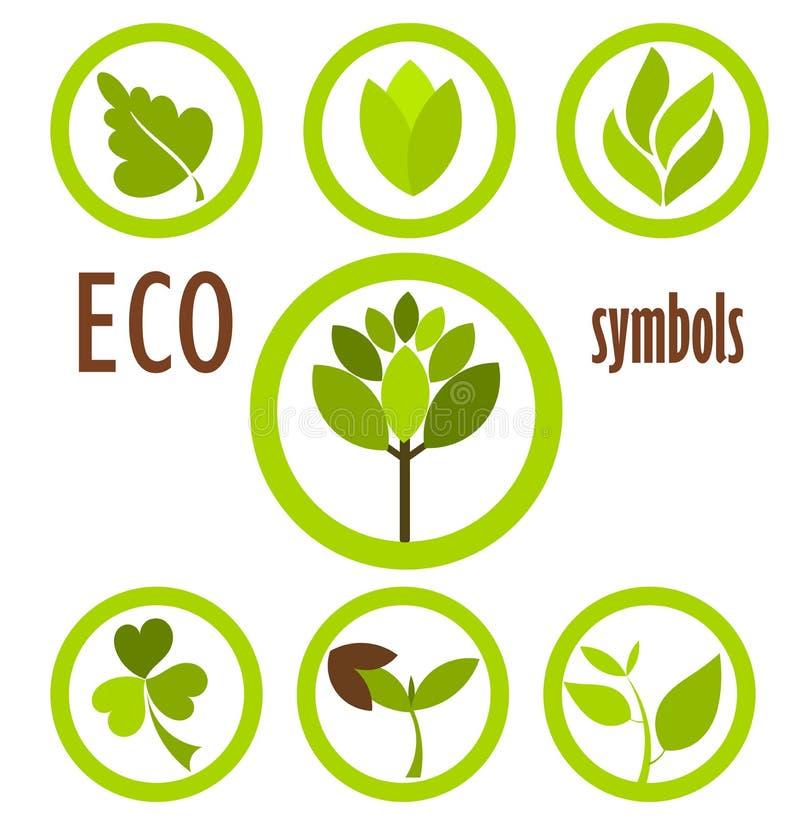 Coleção dos símbolos de Eco ilustração royalty free