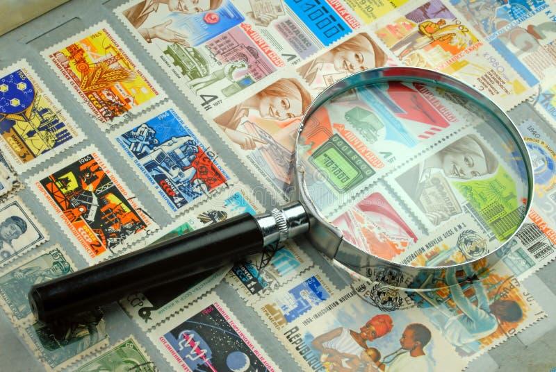 Coleção dos selos fotografia de stock