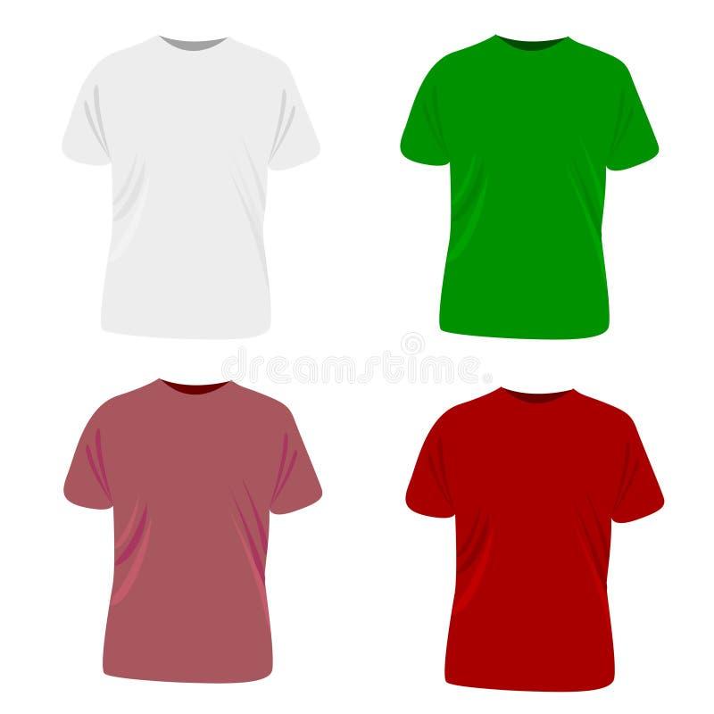 Coleção dos t-shirt ilustração stock
