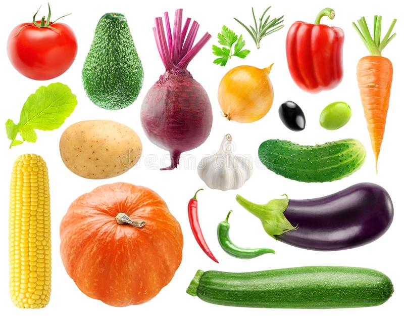 Coleção dos vegetais fotografia de stock