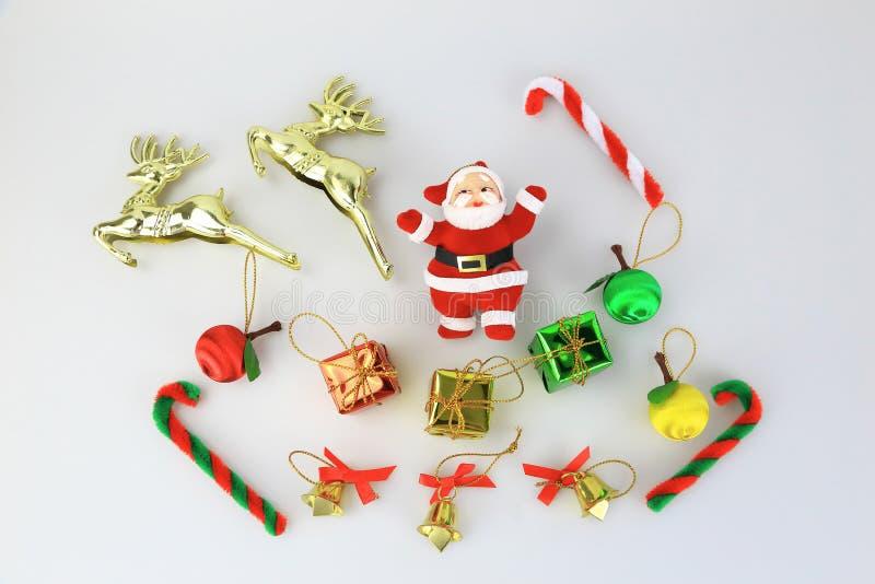 Coleção e Papai Noel do Natal fotografia de stock