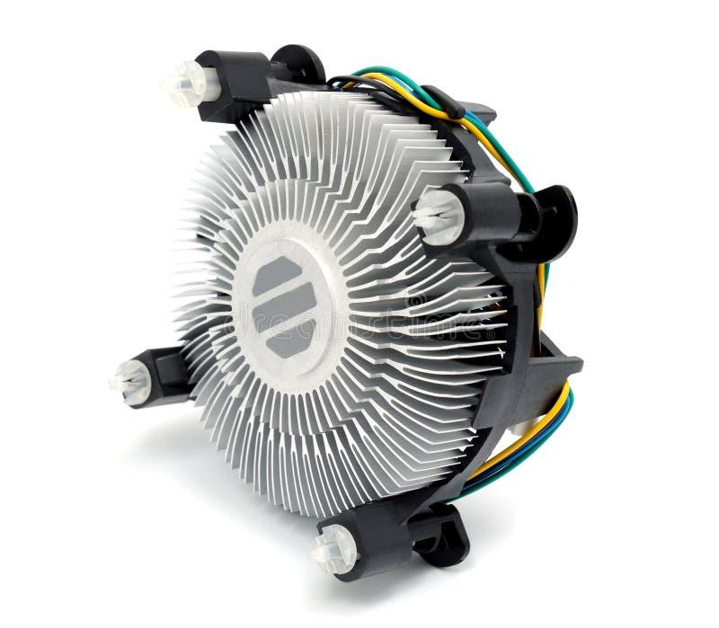 Coleção eletrônica - refrigerador do processador central imagem de stock