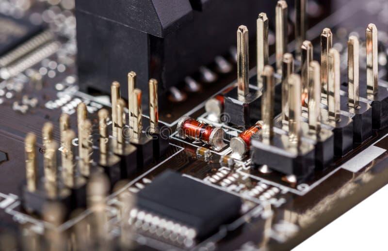 Coleção eletrônica - placa de circuito do computador imagem de stock royalty free