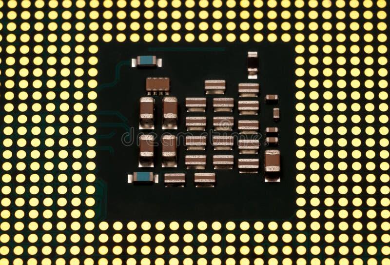 Coleção eletrônica - processador central do computador (unidade do processador central) c foto de stock royalty free