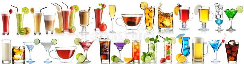 Coleção enorme das bebidas imagem de stock royalty free