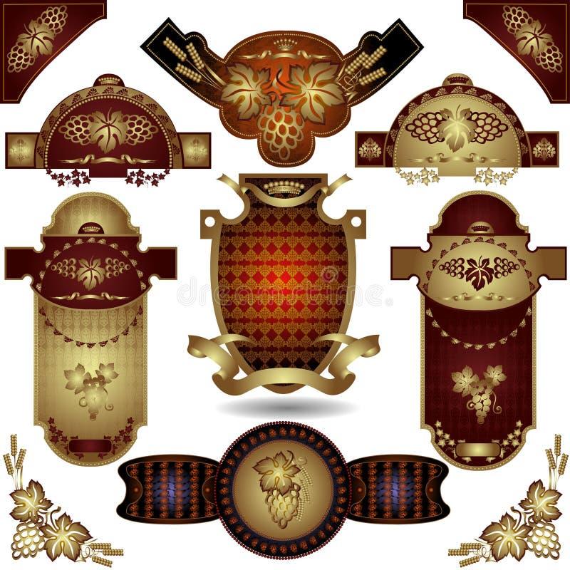 Coleção grande da etiqueta ilustração royalty free