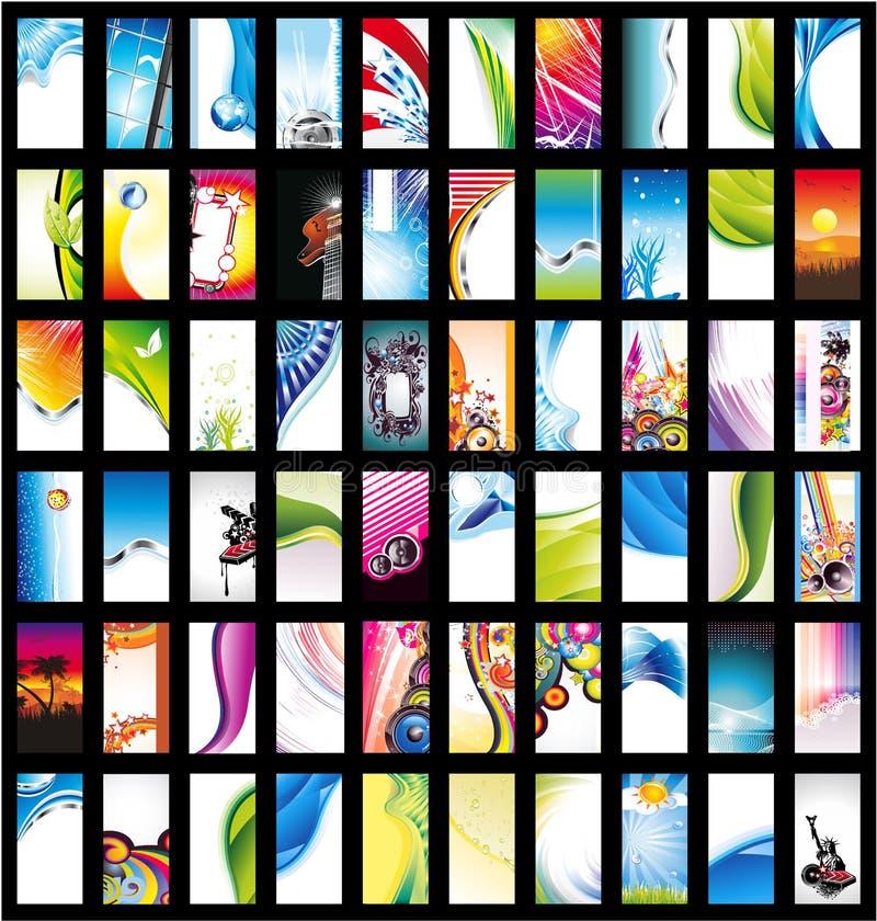 Coleção grande do cartão ilustração stock