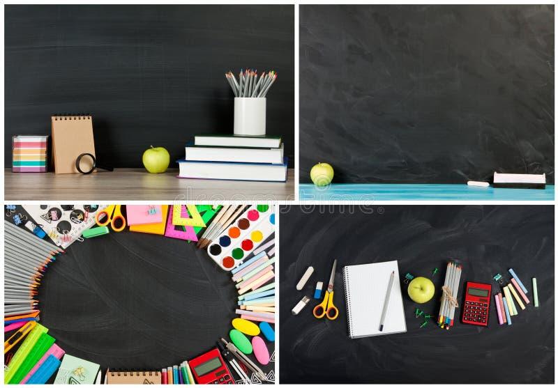 Coleção grande do conceito para seu texto, projeto da De volta-escola fotografia de stock