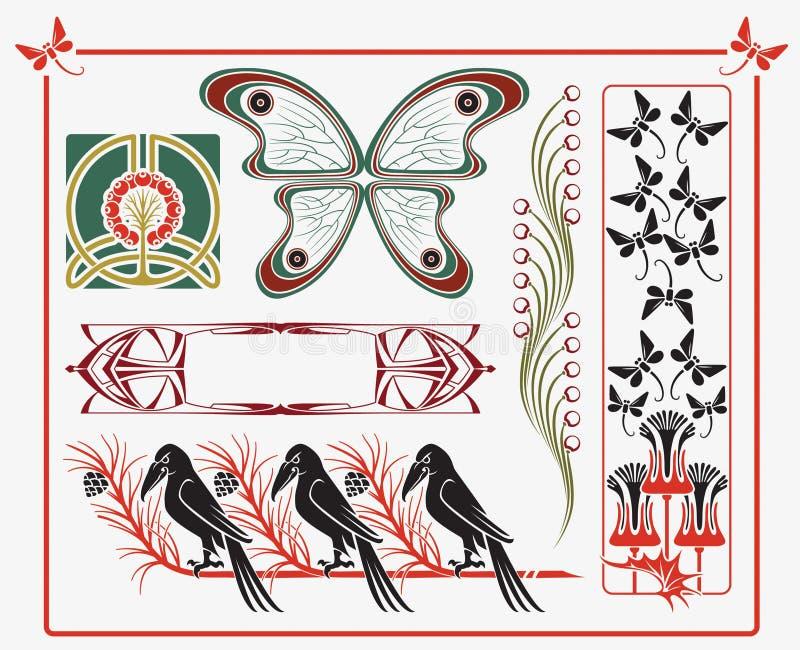 Coleção histórica do projeto ilustração royalty free