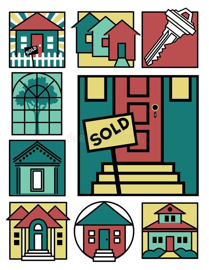Coleção Home 2 dos logotipos ilustração royalty free