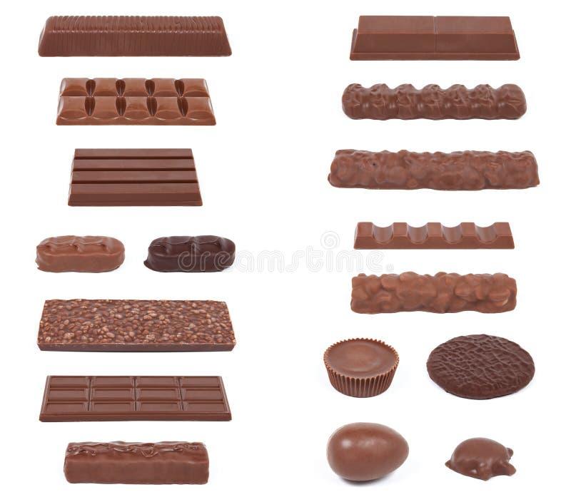 Coleção II do chocolate imagem de stock royalty free