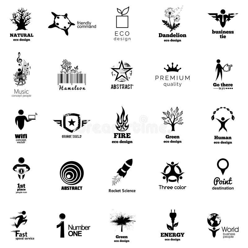 Coleção incorporada do ícone da cor Coleção de Abstact Logo Template Ilustração w do vetor ilustração do vetor
