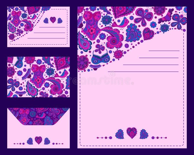 Coleção isométrica dos cartão dos testes padrões para criar seus próprios trabalhos criativos, elementos excelentes para anunciar ilustração do vetor