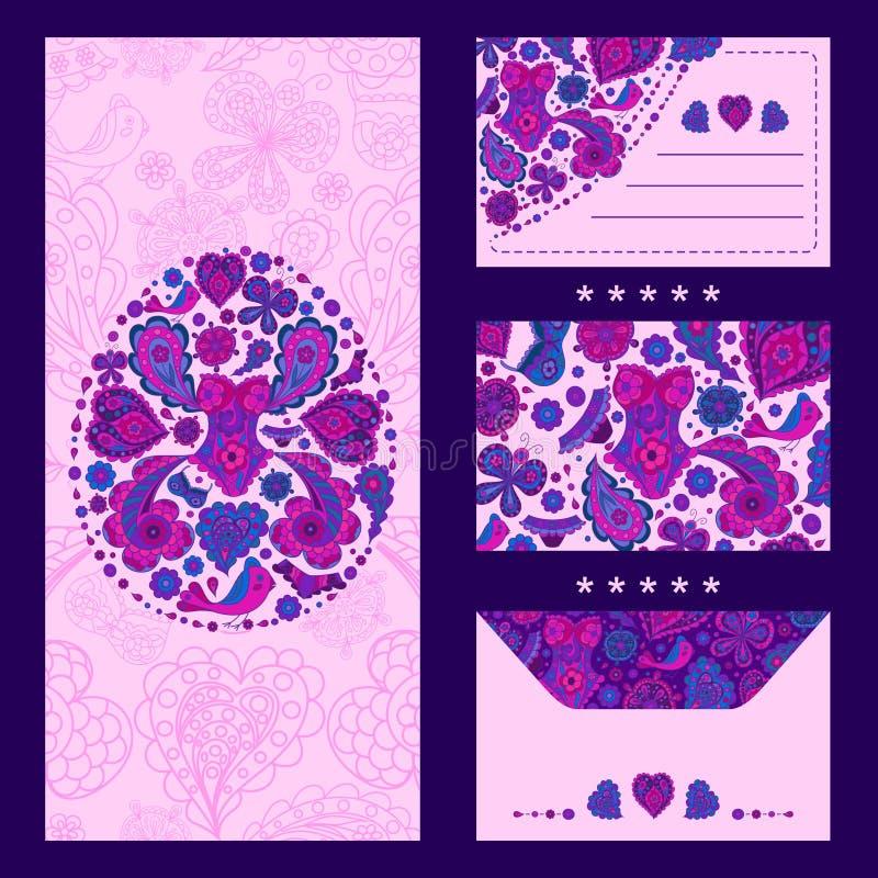 Coleção isométrica dos cartão dos testes padrões para felicitar clientes nos feriados, elementos para anunciar o roupa interior ilustração stock