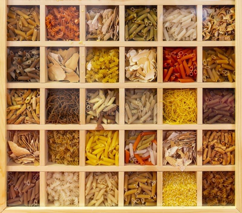 Coleção italiana da massa foto de stock
