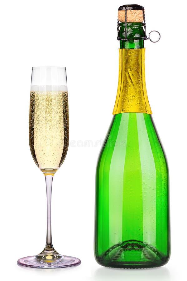 Coleção luxuosa do champanhe isolada imagem de stock