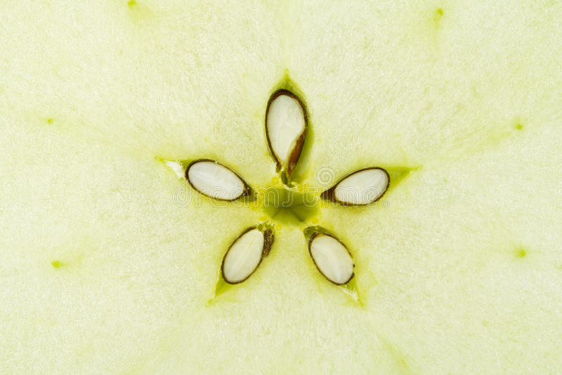 Coleção macro do alimento - maçã verde imagens de stock royalty free