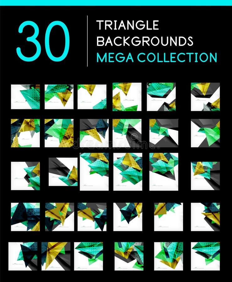 Coleção mega de fundos abstratos geométricos ilustração do vetor